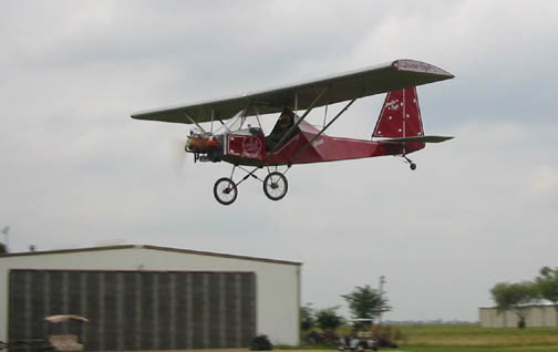 The Double Eagle Airplane  in low flight, photo credit Paul Loghry